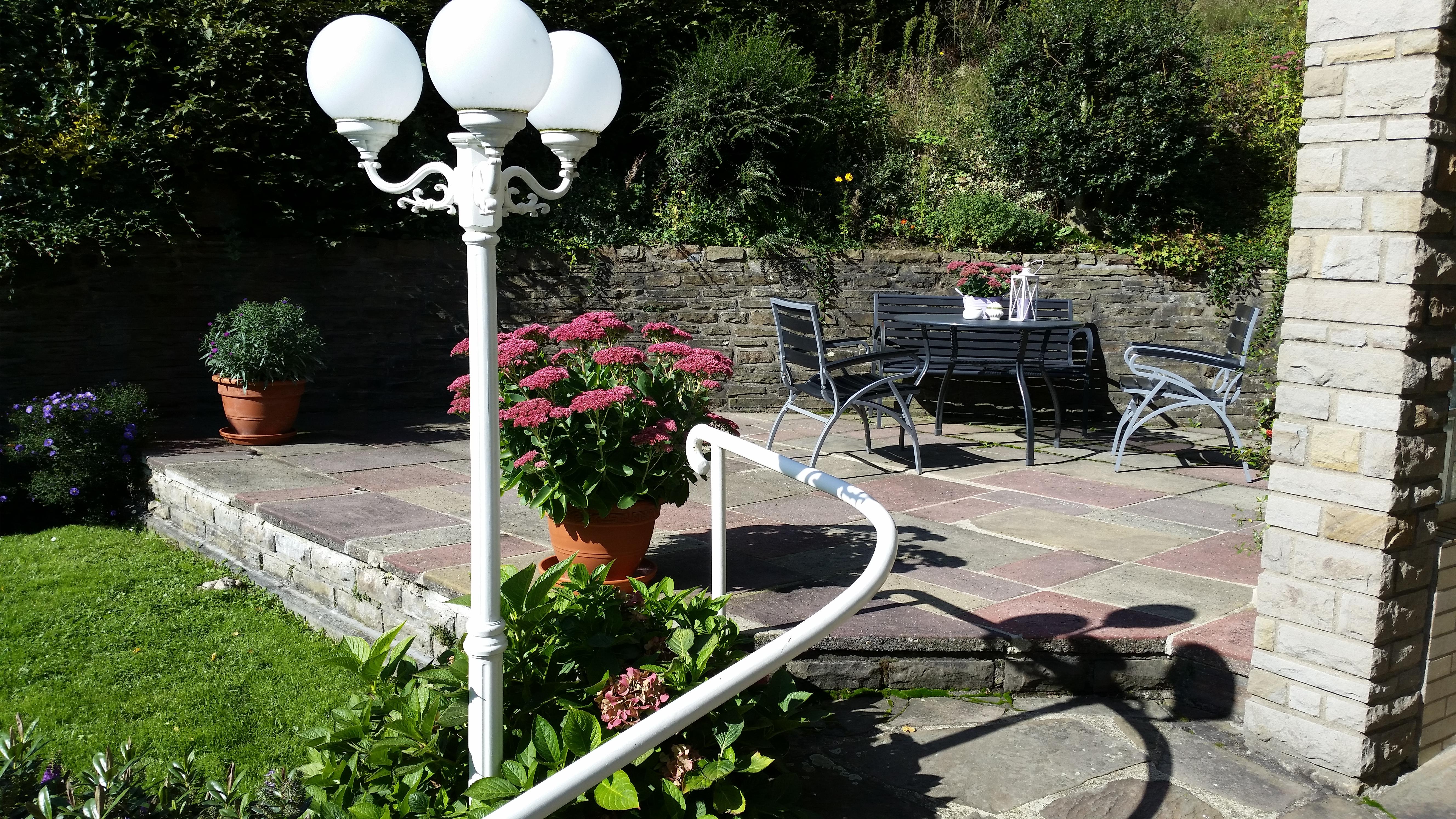 Terrasse, hier darf auch geraucht werden
