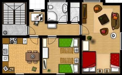 Grundriss Apartment Stefan